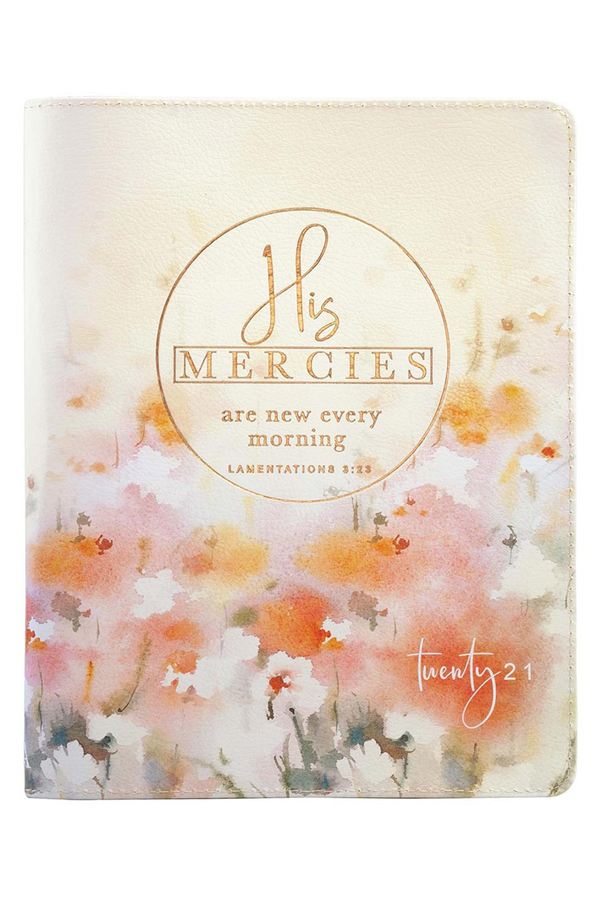 2021 'His Mercies' Zippered 18 Month Daily Planner