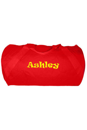 "Red Barrel-Sided Duffle Bag 18"" #8805-RED"