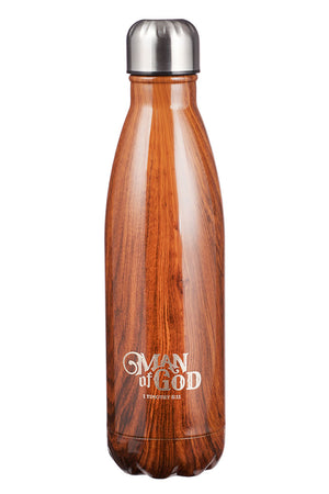 1 Timothy 6:11 'Man of God' 17oz Stainless Steel Water Bottle