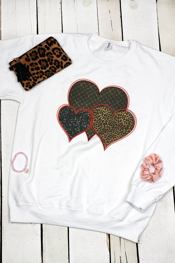 Fashion Hearts Unisex NuBlend Crew Sweatshirt