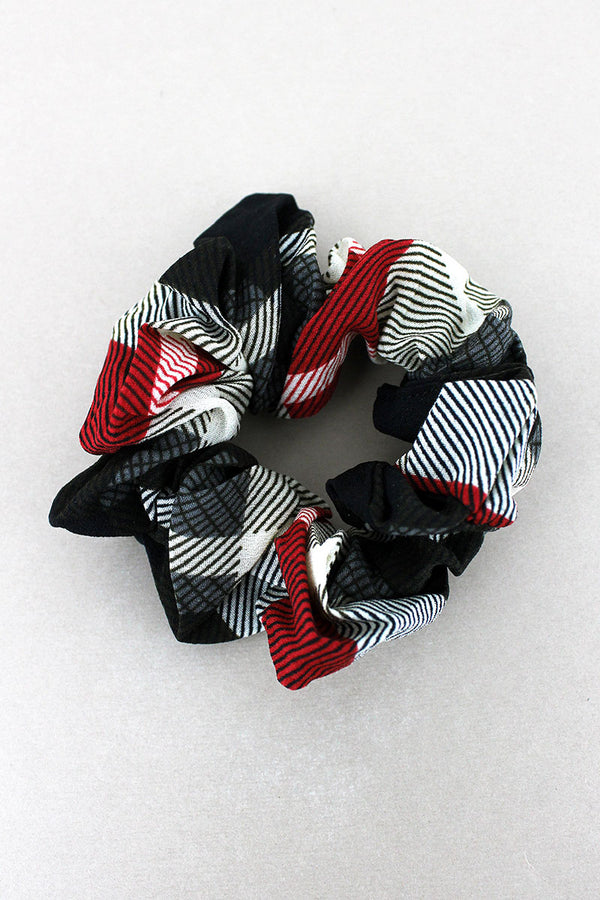 Midnight Memories Plaid Scrunchie