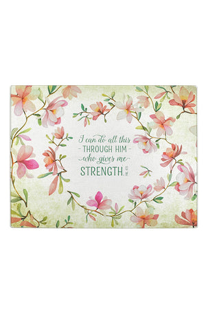 Philippians 4:13 'I Can Do All Things' Large Glass Cutting Board