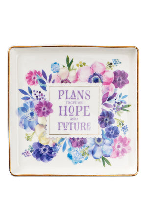 Hope And A Future Ceramic Trinket Tray