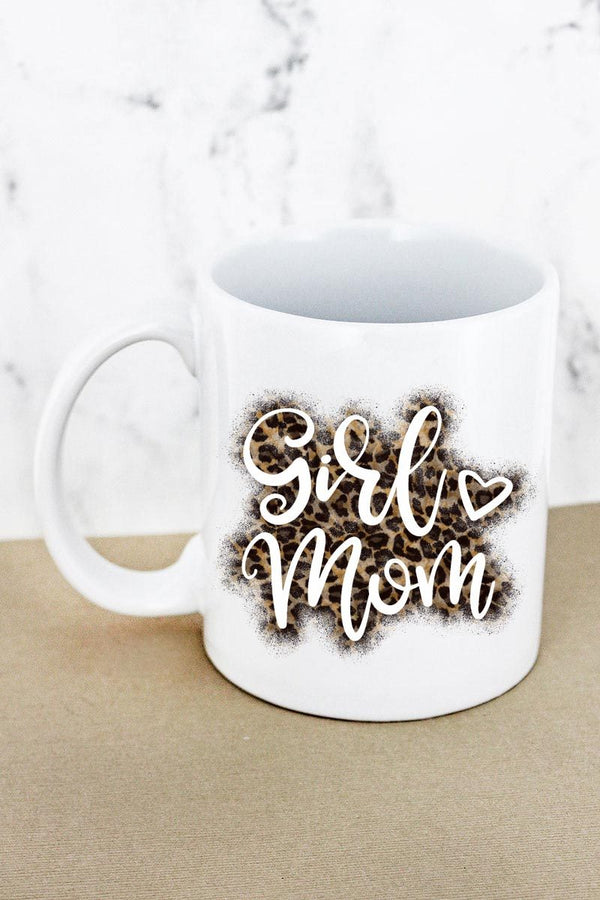 Girl Mom  White Mug