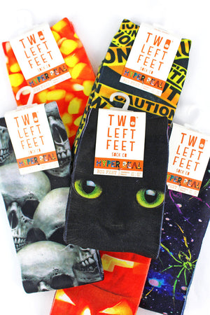 One Pair of Large Halloween Hyper Real Sublimated Socks - SHIPS ASSORTED