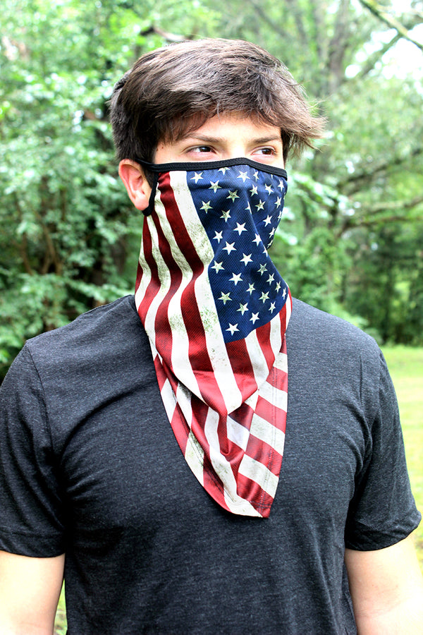 Distressed Flag Face Mask Neck Gaiter
