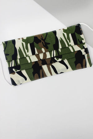 Army Camo Two-Layer Pleated Fashion Face Mask