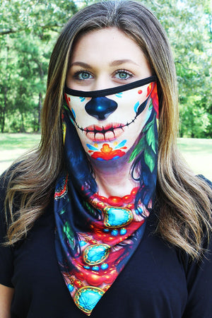 Day Of The Dead Face Mask Neck Gaiter
