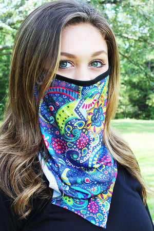 Lost In Thought Face Mask Neck Gaiter