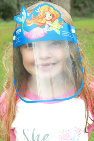 Kid's Mermaid Face Shield