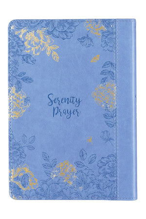 Serenity Prayer Blue LuxLeather Journal