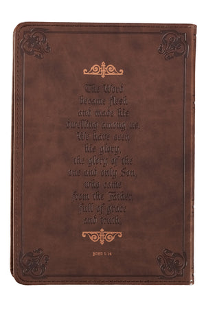 Names of Jesus Cross LuxLeather Journal