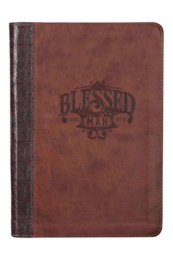 Blessed Man LuxLeather Flexcover Zippered Journal
