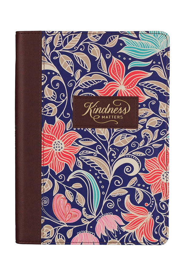 Kindness Matters Floral LuxLeather Journal