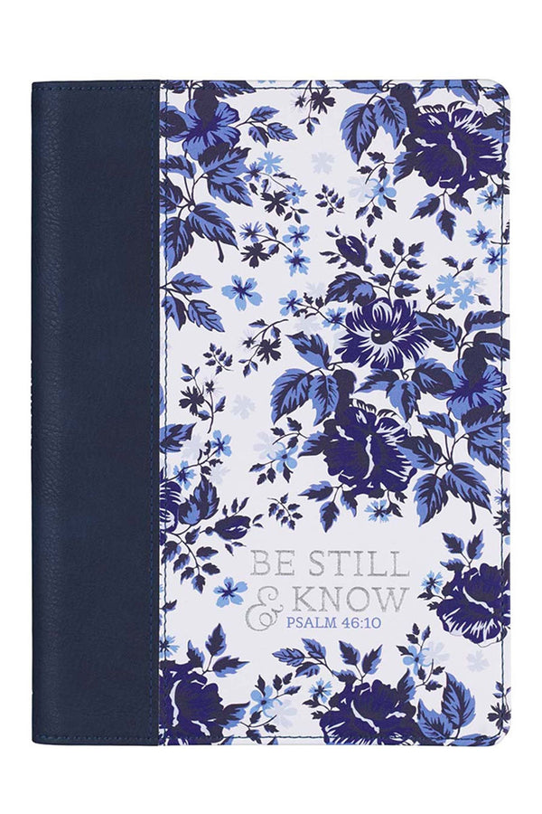 Be Still & Know Floral LuxLeather Journal