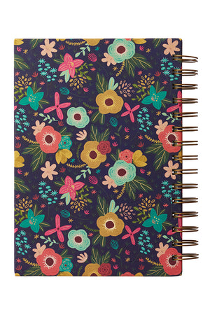 Grace Upon Grace Floral Large Wirebound Journal