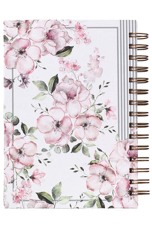 Proverbs 3:5 'Trust In The Lord' Floral Hardcover Wirebound Journal