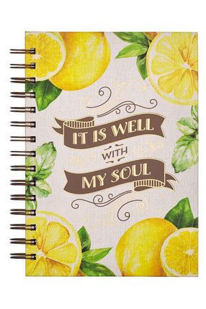 It Is Well Lemon Large Wirebound Journal