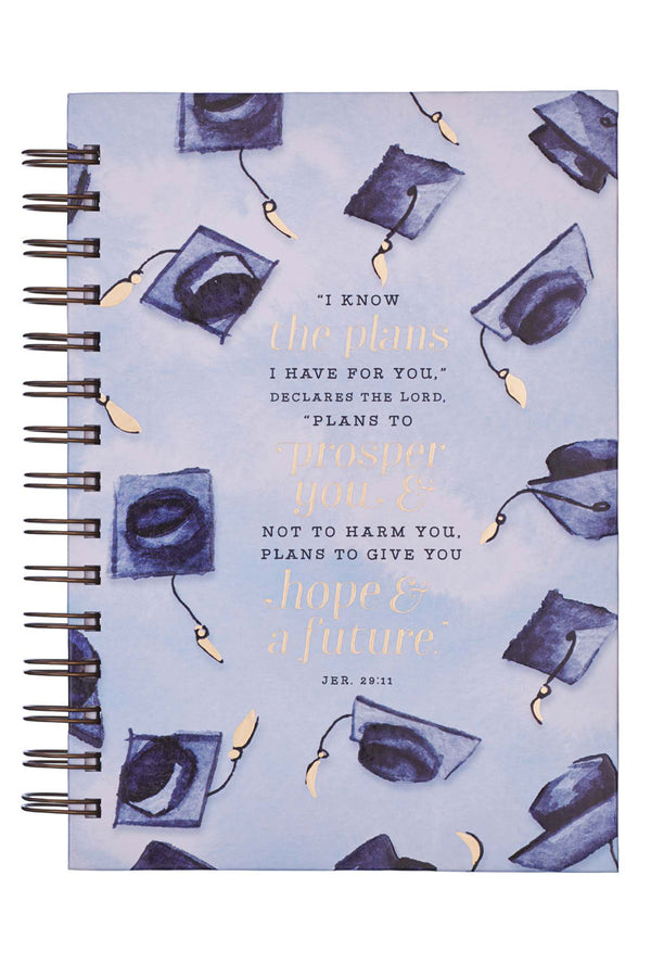 Jeremiah 29:11 Graduation Large Wirebound Journal