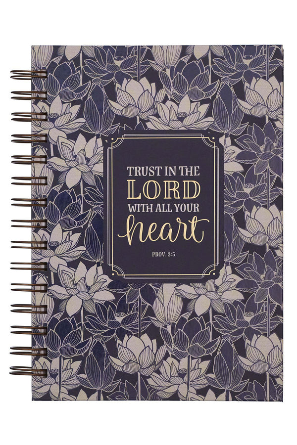 Proverbs 3:5 'Trust In The Lord' Large Wirebound Journal
