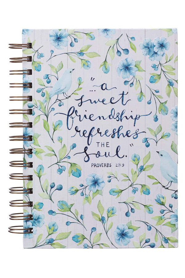 Proverbs 27:9 'Sweet Friendship' Large Wirebound Journal