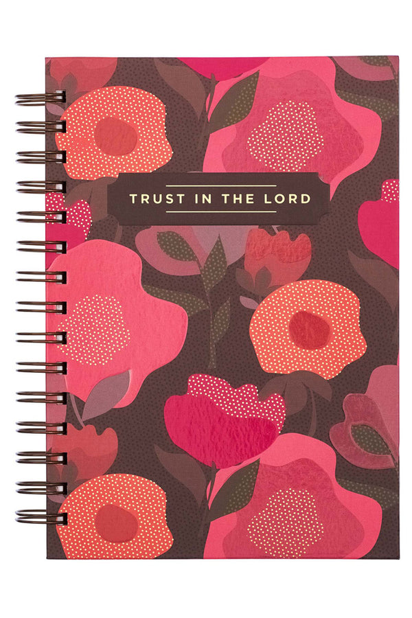 Trust In The Lord Large Wirebound Journal