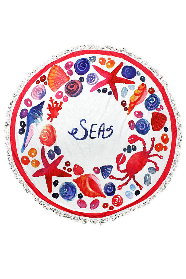 Seas Round Beach Towel