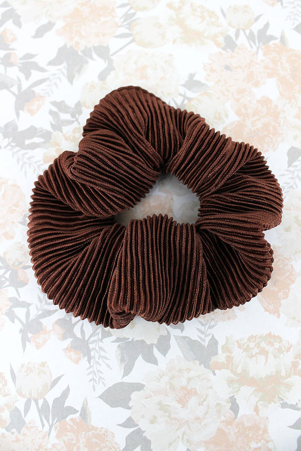 Brown Corduroy Scrunchie