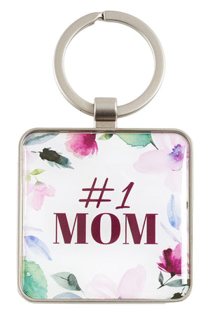 Proverbs 31:29 '#1 Mom' Keyring