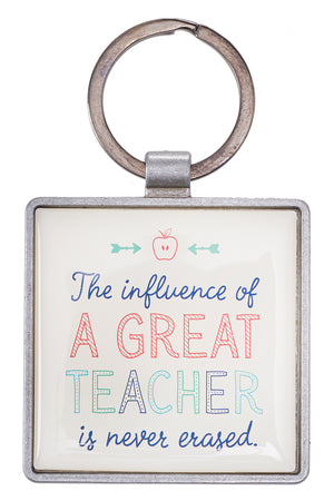 A Great Teacher Keyring in Gift Tin