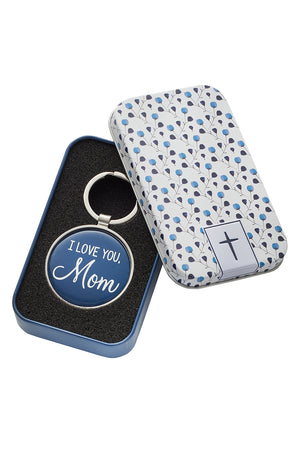 I Love You, Mom Keyring in Gift Tin