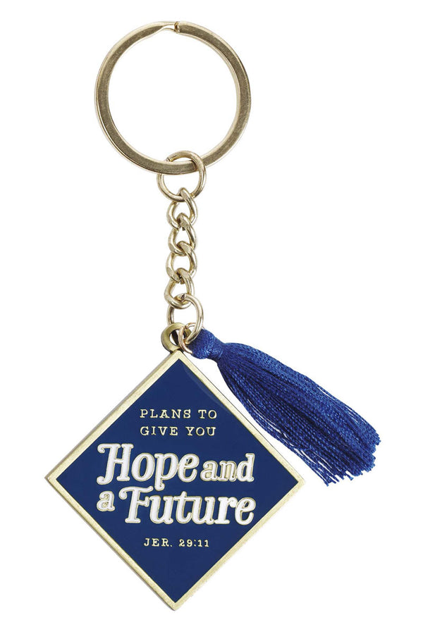 Hope And A Future Graduate Keyring with Tassel in Gift Tin