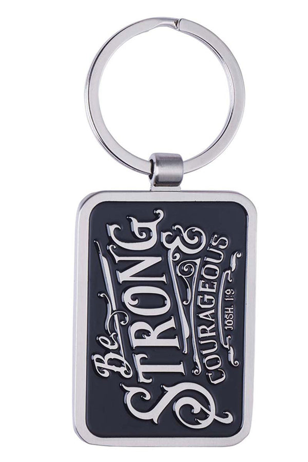 Be Strong & Courageous Keyring in Gift Tin