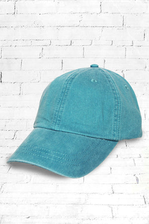 Washed Caribbean Blue Baseball Cap