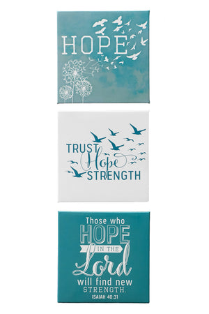 Hope Themed Inspirational Magnet Set
