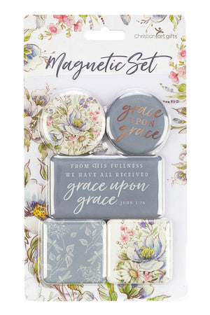 John 1:16 'Grace Upon Grace' Magnet Set