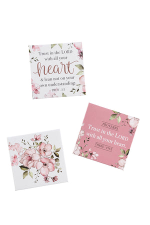 3 Piece 'Trust In The Lord' Floral Magnet Set
