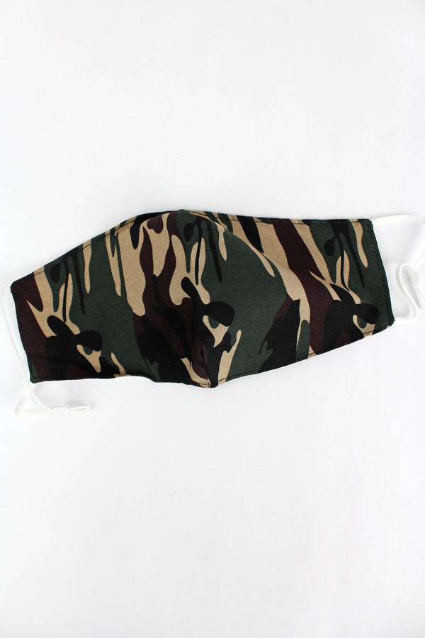 Cover Your Six Army Camo Two-Layer Fashion Face Mask