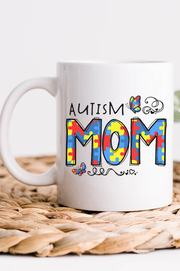 Autism Mom White Mug