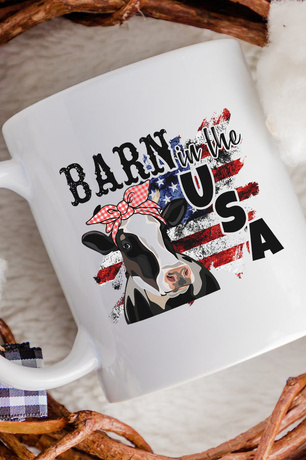 Barn In The USA White Mug