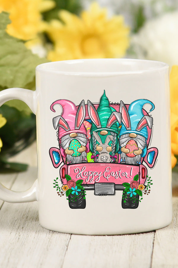 Gnomes Happy Easter White Mug