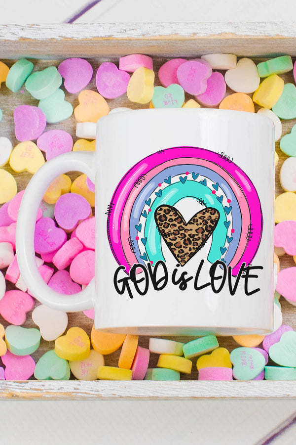 God Is Love Rainbow White Mug