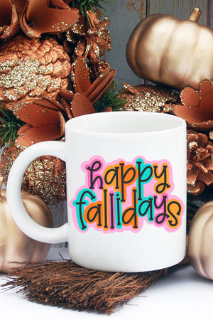 Happy Fallidays White Mug