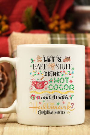 Let's Bake Christmas Hallmark White Mug