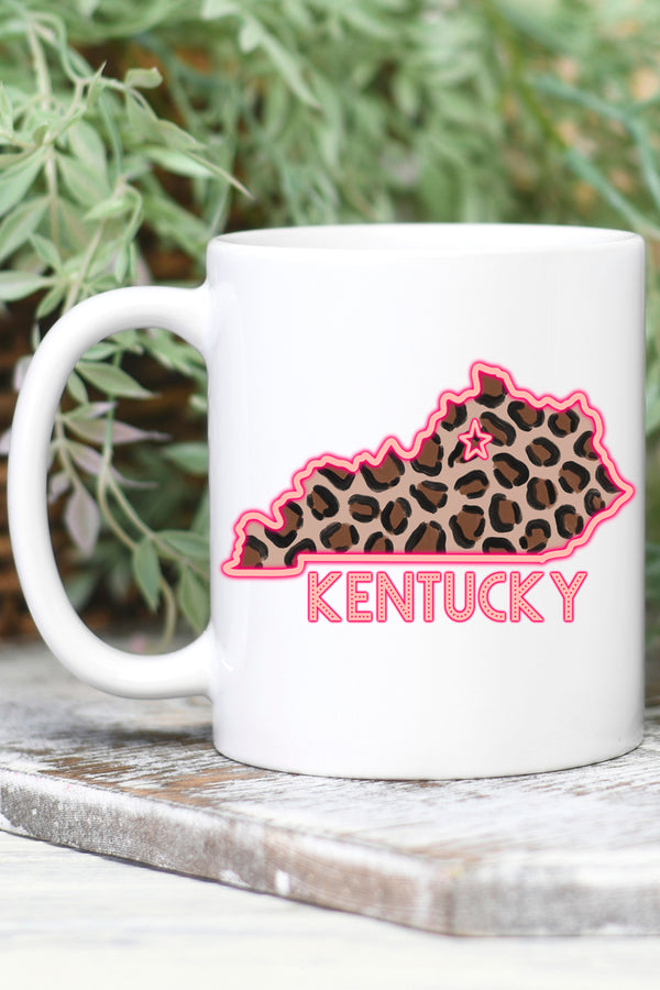 Neon Kentucky White Mug