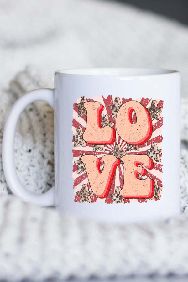 Retro Love White Mug