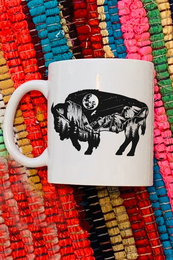 Wilderness Buffalo White Mug