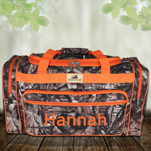 "23"" BNB Natural Camo Duffle Bag with Orange Trim #N423-ORANGE"
