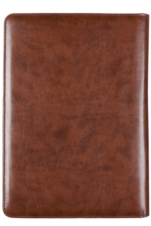 2 Chronicles 15:7 'Faithful Servant' LuxLeather Legal Size Zippered Portfolio