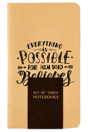 Set of 3 Rejoice Small Notebooks